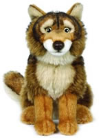 10 inch Red Wolf Plush Toy